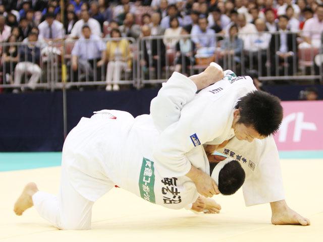 男子66kg級 決勝 福岡政章−海老沼匡�A