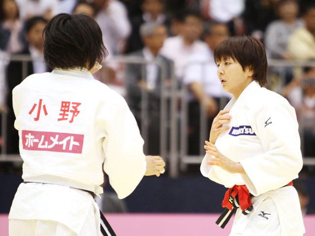 女子57kg級 準決勝 大友真貴子−小野彰子�A