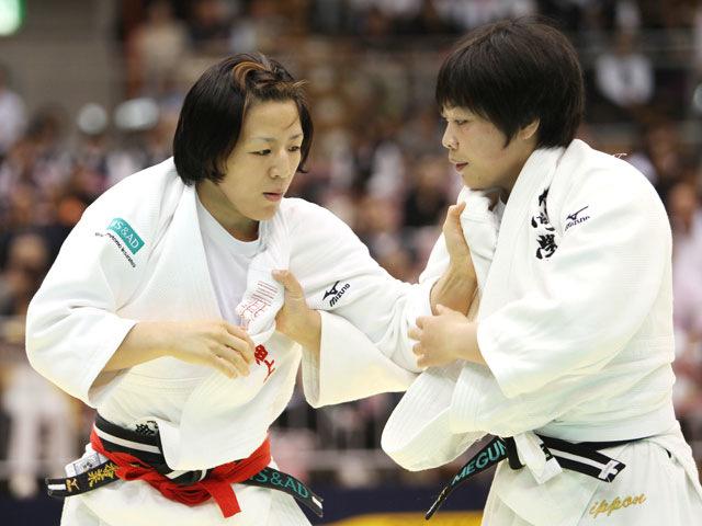 女子63kg級 準決勝 阿部香菜−津金恵�@