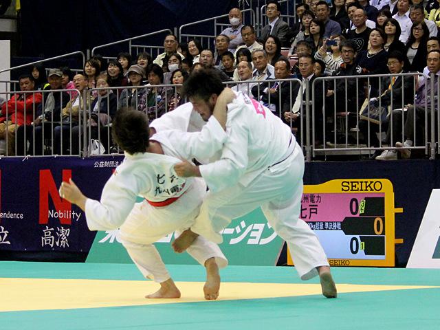 男子100kg超級準決勝戦_七戸龍vs西潟健太�A