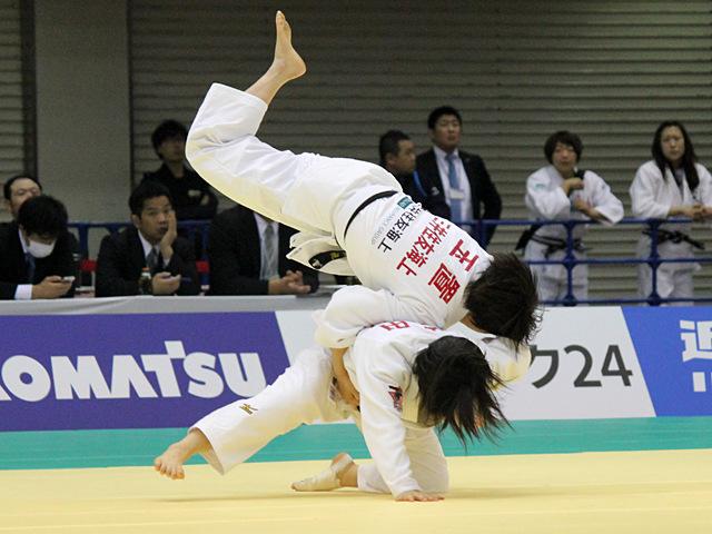 女子57kg級1回戦_芳田司vs玉置桃�@