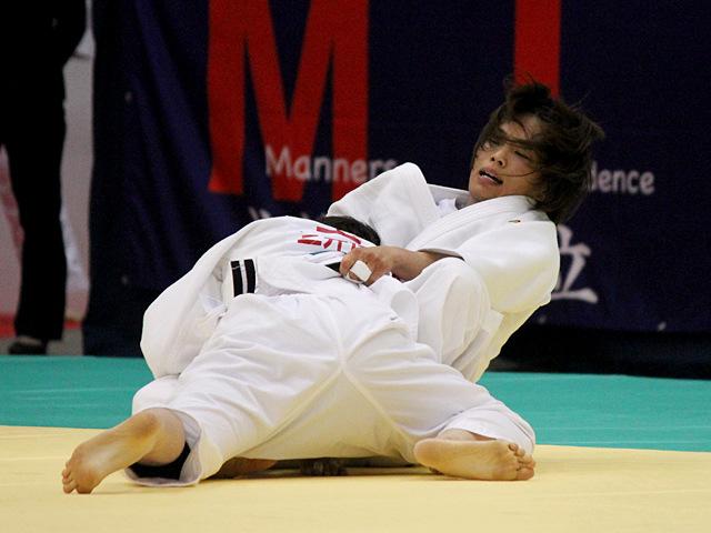 女子57kg級準決勝戦_松本薫vs玉置桃�@