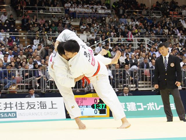 男子100kg超級1回戦 原沢久喜vs影浦心