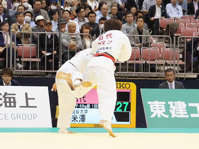 女子63kg級1回戦 田代未来vs米澤夏帆