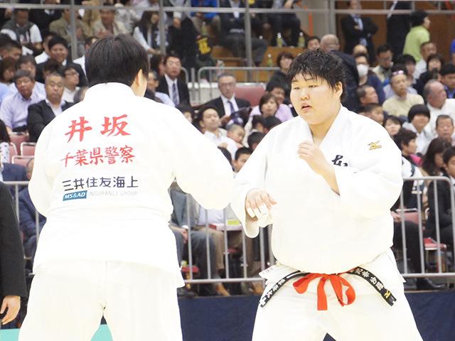 女子78kg超級1回戦 朝比奈沙羅vs井坂希望�@