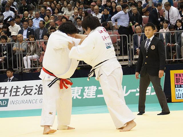 女子78kg超級決勝戦 朝比奈沙羅vs山部佳苗�@