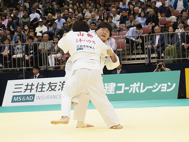 女子78kg超級決勝戦 朝比奈沙羅vs山部佳苗�A