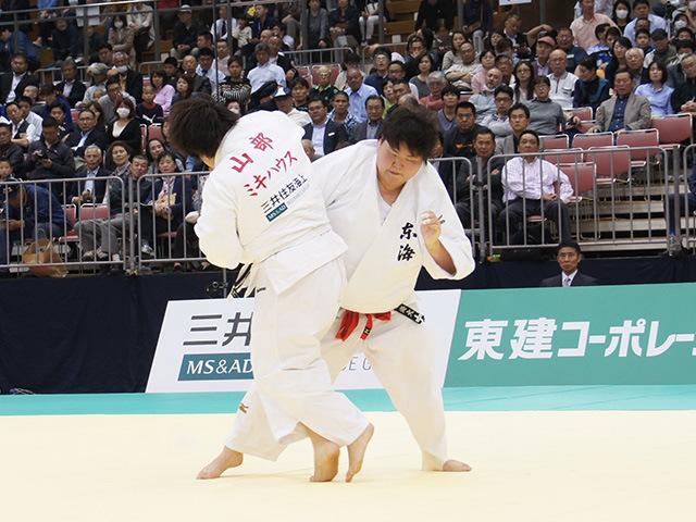 女子78kg超級決勝戦 朝比奈沙羅vs山部佳苗�C