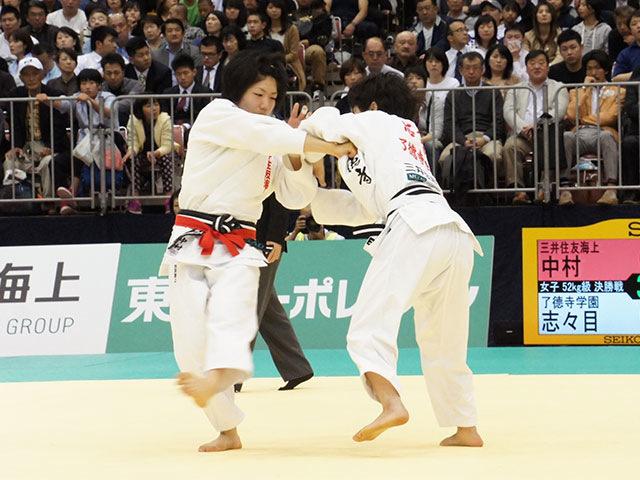 大会レポート「女子52kg級は、中村が連覇達成!」