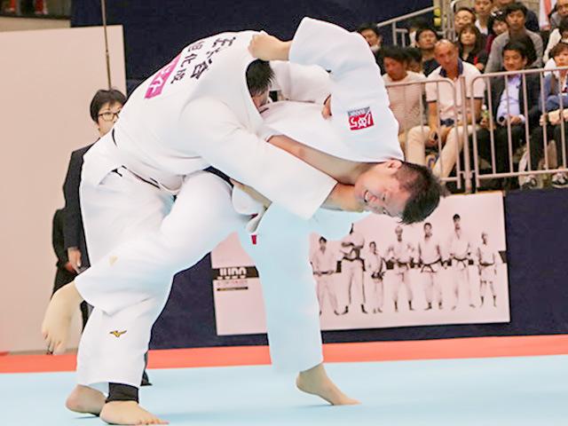 2019年選抜体重別 男子100kg超級 準決勝 原沢久喜vs王子谷剛志