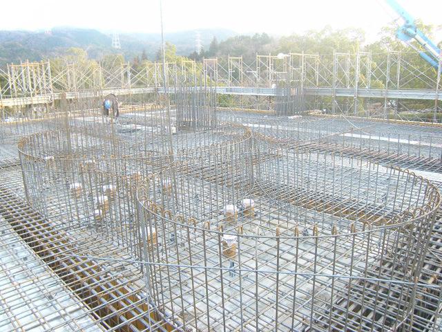 一階壁と二階床(一工区)のコンクリート打設