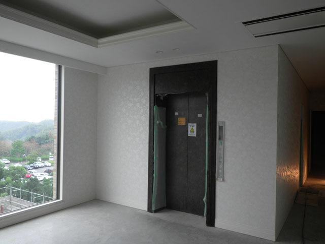 五階EVホール・クロス完了