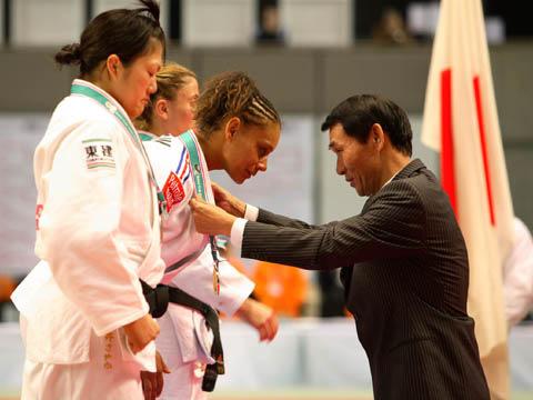 2007年嘉納治五郎杯表彰式にて(メダル贈呈)