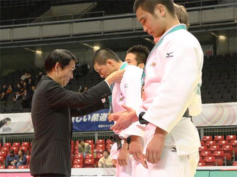 2008年嘉納治五郎杯表彰式にて(メダル贈呈)