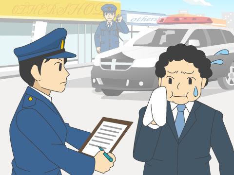 犯罪を抑制する警察官の姿
