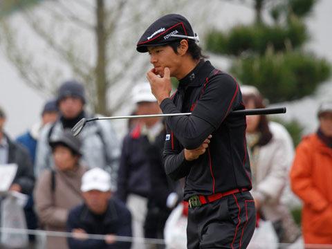 ショットがブレ始め悩む石川選手