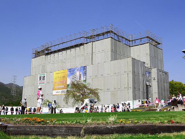 建設中のレジデンス新館