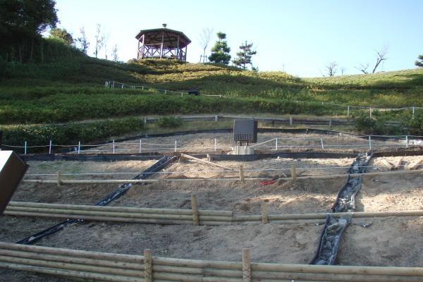 18番 大花壇の排水改善作業