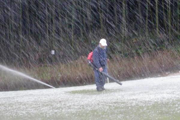 初夢杯に向けての除雪作業