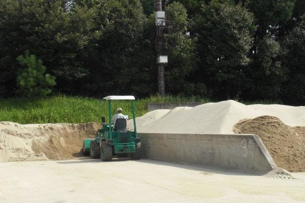 川砂ピットの整理