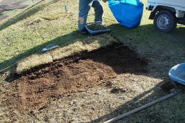 裸地の芝補修