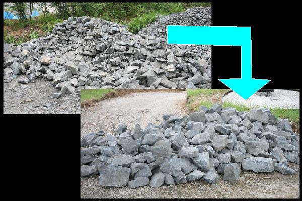 石積み用の石選定
