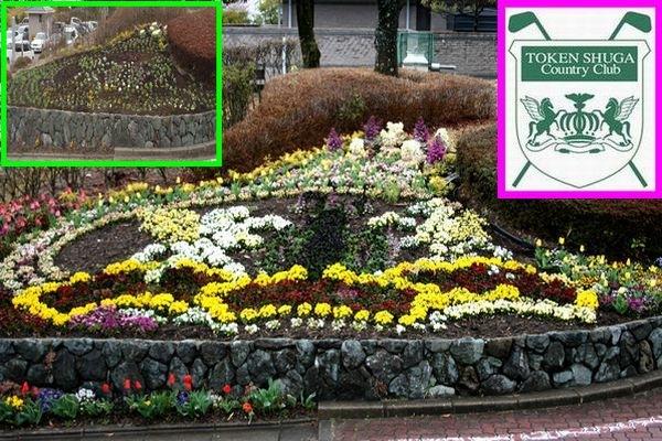 東建のロゴをイメージした花壇 その後
