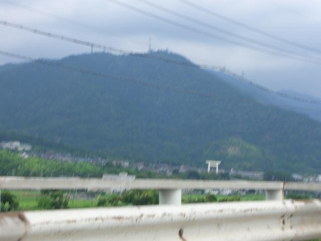 通勤途中から見える多度山