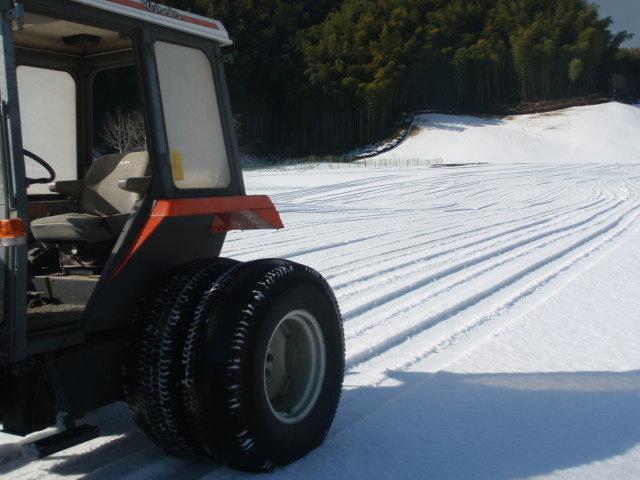 多度ccの除雪 その1