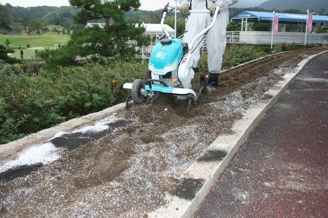 花壇の土壌改良