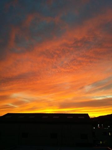 素晴らしい夕焼け空