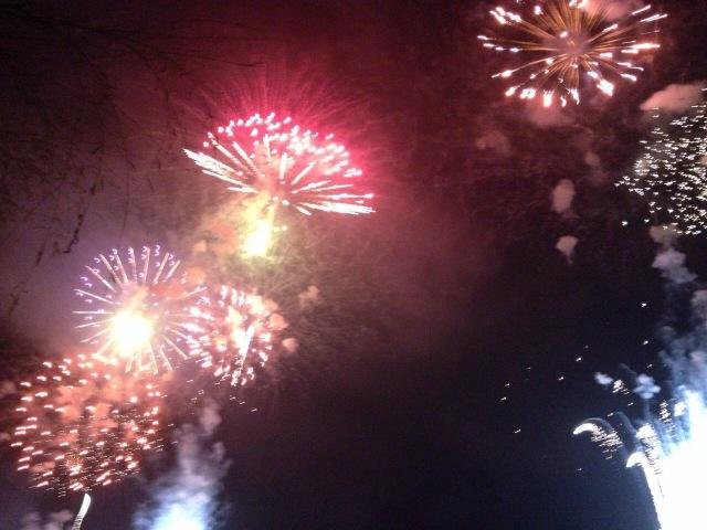 松茸花火を見ました