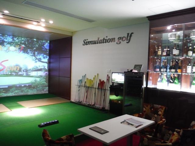 レジデンス新館「シミュレーションゴルフ」