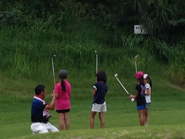 ジュニアゴルフスクール開催