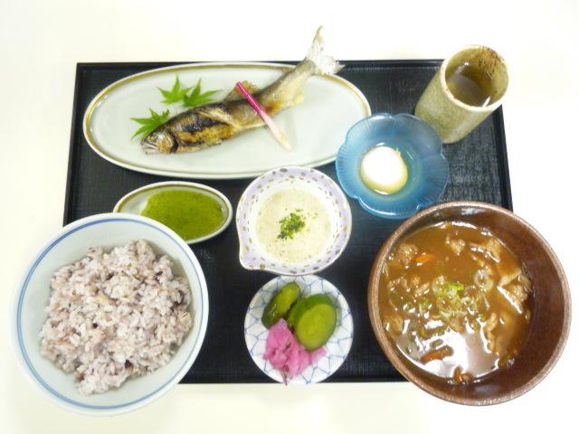 夏の十六穀米定食