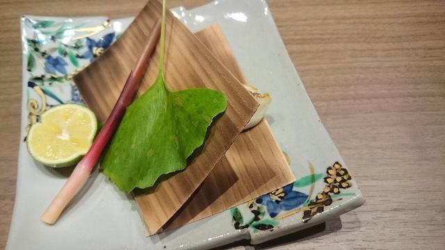 本日の料理〜甘鯛の杉板焼き〜