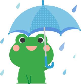 雨の日には