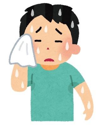 正しい汗の拭き方