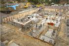 基礎足場組立て・掘削状況④