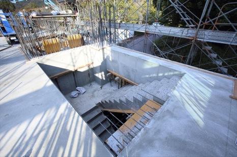 二階階段工事