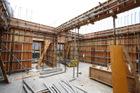 六階柱壁型枠工事②