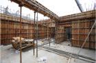 六階壁梁型枠工事⑦
