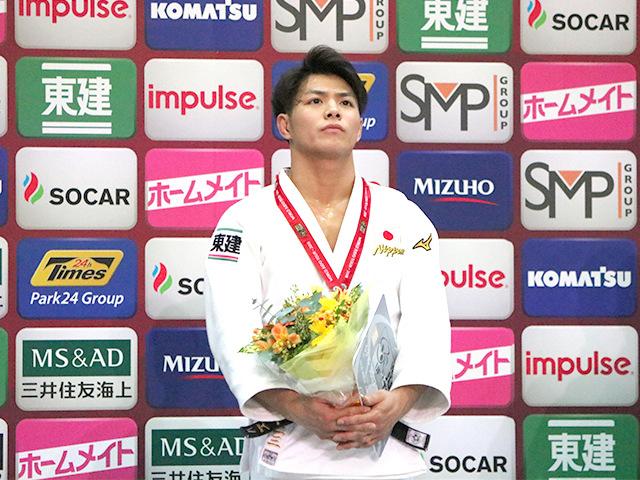柔道グランドスラム大阪2018 男子66kg級 表彰式 阿部一二三