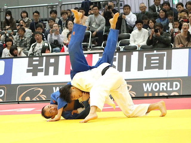 柔道グランドスラム大阪2018 男子66kg級 準決勝 阿部一二三 vs B.YONDONPERENLEI