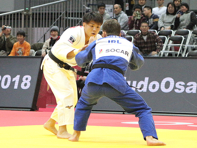 柔道グランドスラム大阪2018 男子66kg級 2回戦 阿部一二三 vs N.BURNS