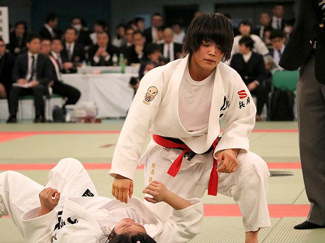 第39回全国高等学校柔道選手権大会 女子52kg級 2回戦 阿部詩 vs 西崎歩生�B