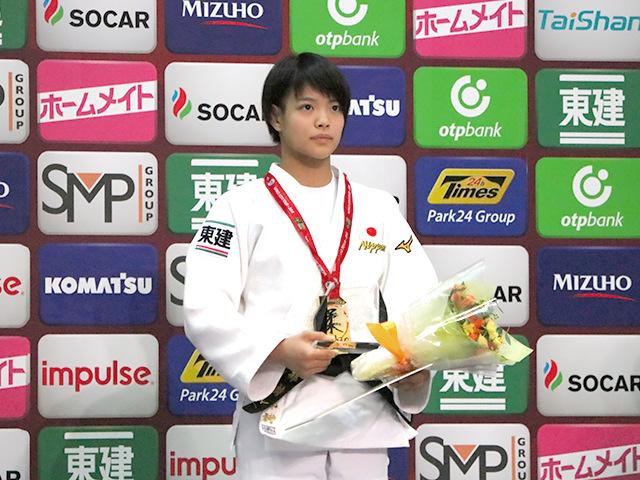 柔道グランドスラム大阪2018 女子52kg級 表彰式 阿部詩