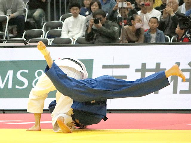 柔道グランドスラム大阪2018 女子52kg級 準決勝 阿部詩 vs 志々目愛�@