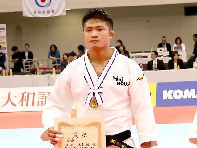 2019年全日本選抜柔道体重別選手権大会 男子66kg級 表彰式 丸山城志郎