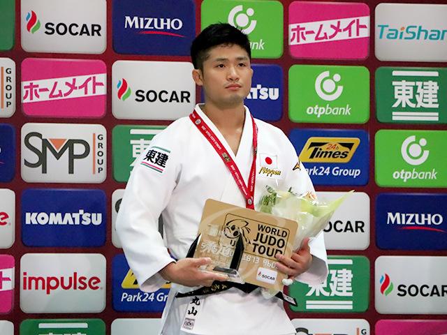 柔道グランドスラム大阪2018 男子66kg級 表彰式 丸山城志郎